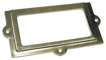 """Knape & Vogt Label Holder 2"""" Plus 1"""" - Contemporary - Cabinet And Drawer Hardware - by ..."""