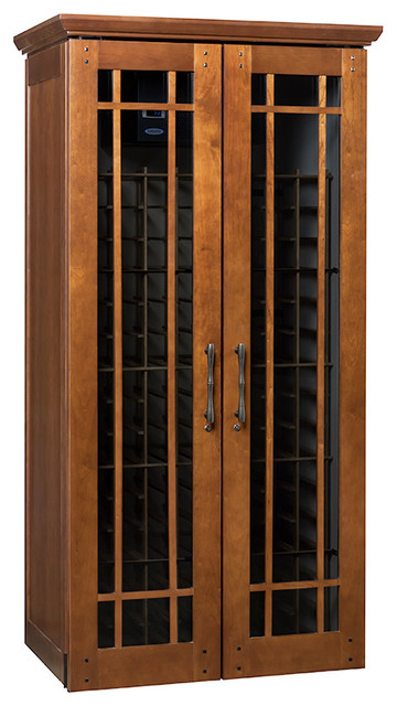 Le Cache Mission 2400 Wine Cabinet, Classic Cherry - Transitional - Wine And Bar Cabinets - by ...