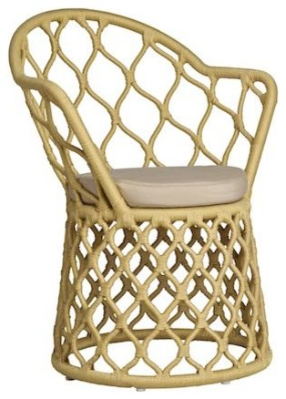 Painho Outdoor Armchair, Gold Outdoor Lounge Chairs