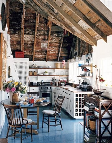 Rustic Ceiling eclectic kitchen