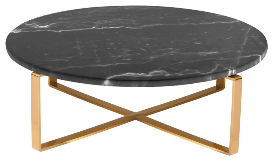Rosa Round Marble Coffee Table Contemporary Coffee Tables By Homesquare