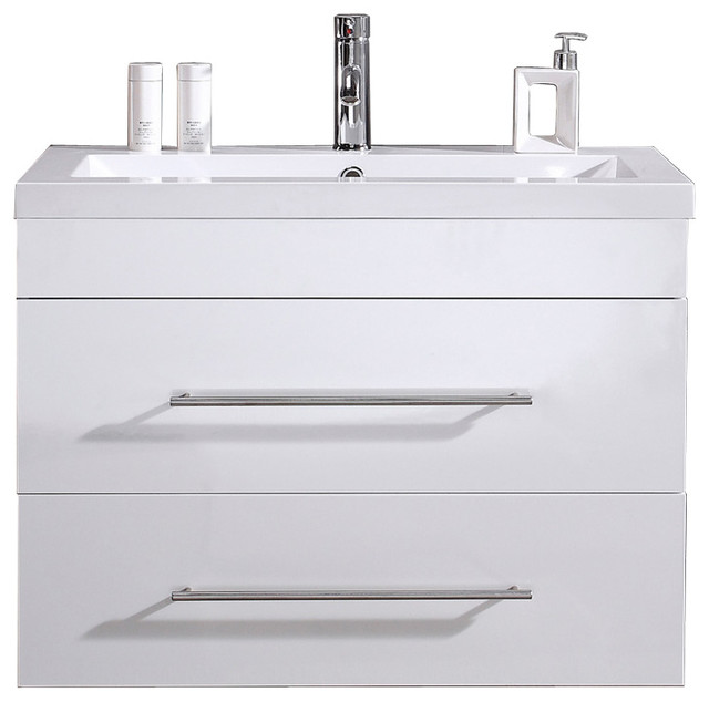 Emotion Infinity 850 Bathroom Furniture, 85 cm, White High-Gloss