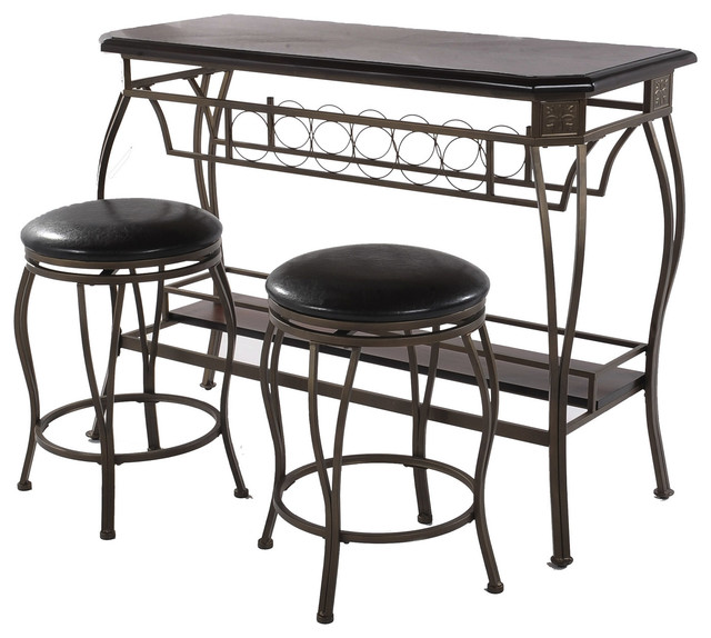 Home Source Counter Height Bar & 2 Stools.