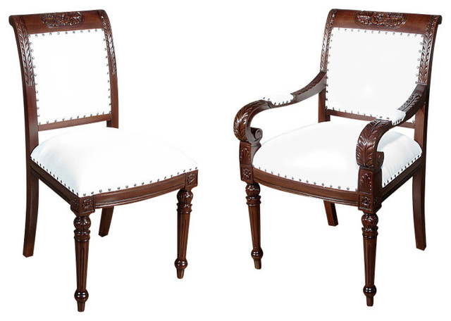 Traditional Dining Chairs consigned vintage set of 10 solid mahogany regency dining chairs w