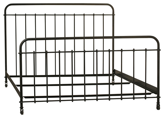 Classic Iron Bed Frame Queen, Black Iron Bed Queen
