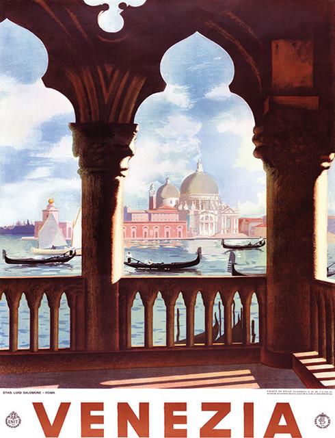 """Venezia View"" Canvas Print by Piddix, 60x80 cm"