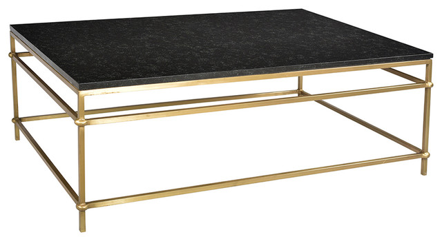Black Marble And Brass Coffee Table Contemporary Coffee Tables - Marble and brass end table