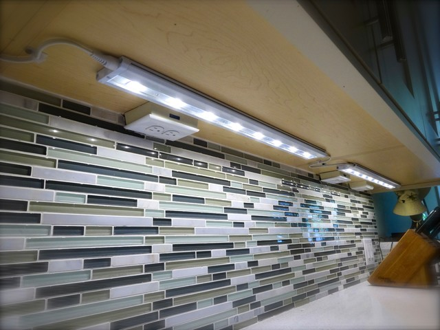 Cypress Contemporary Ivory Kitchen - Contemporary - Undercabinet Lighting - Houston - by Factory ...