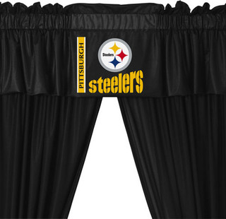 Nfl Pittsburgh Steelers 5 Piece Curtains And Valance Set