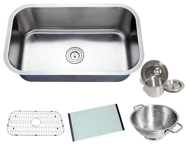 Chef Series Premium Undermount Single Bowl Kitchen Sink ...