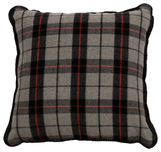 Decorative Plaid Pillows : Moose Hollow Ponderosa Plaid Pillow - Rustic - Decorative Pillows - by Wooded River Inc