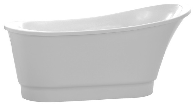 Prima Series 5.58&x27; Freestanding Bathtub, White.