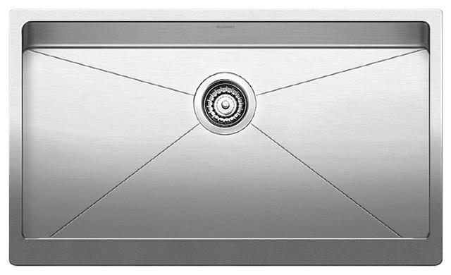 Blanco Quatrus R15 Apron Super Single Kitchen Sink, Stainless Steel