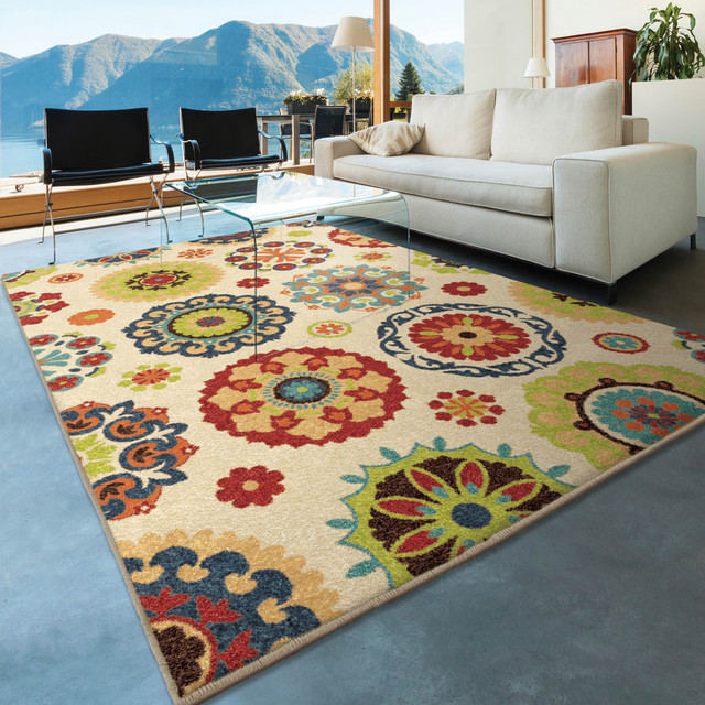Bright Dotted Hubbard Indoor/outdoor Area Rug, 6&x27;5x9&x27;8.
