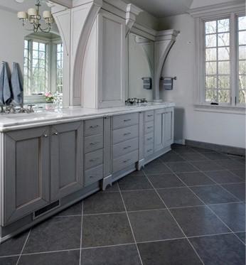 Nova Blue Limestone Traditional Bathroom Seattle