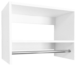 Modular Closets Wood Tall Hanging Closet Organizer Section - Contemporary - Closet Organizers - by Modular Closets