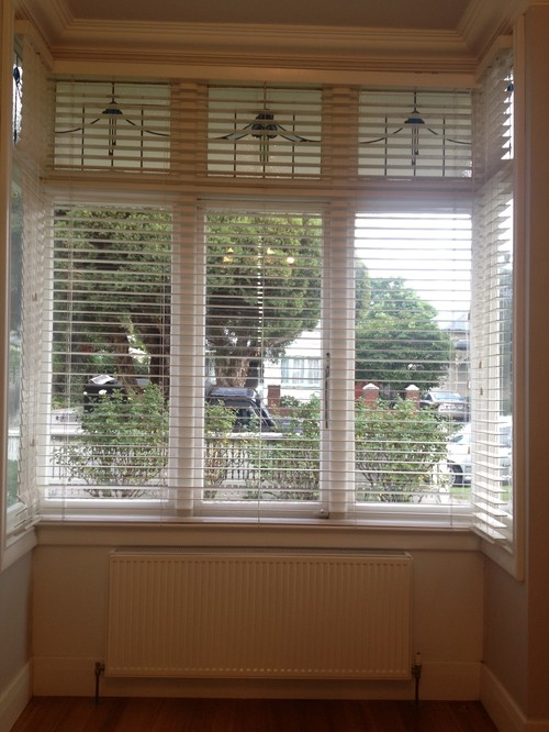Ideas Needed Window Treatment For Bay Window With Lead
