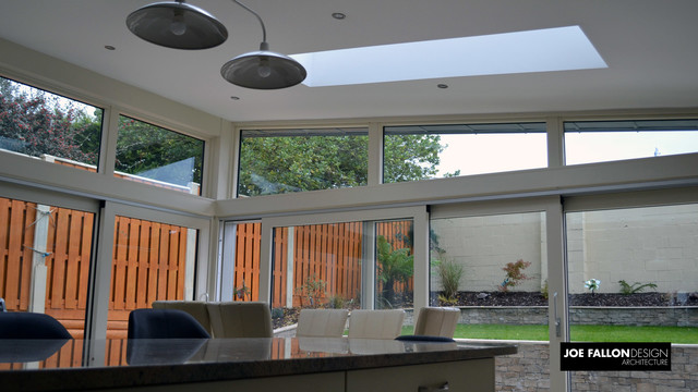 Zinc Clad Extension Stepaside Contemporary Dining