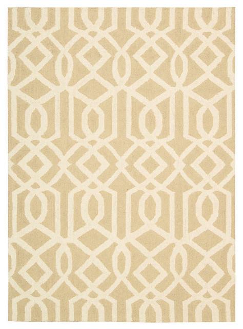Linear Rug, Sand/ivory, 8&x27;x11&x27;.