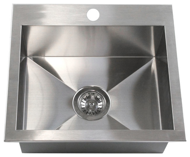19 Top Mount Drop In Stainless Steel Single Bowl Kitchen Island