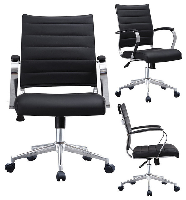 Modern Designer Executive Ergonomic Office Chair With Arms Ribbed For  Computer,