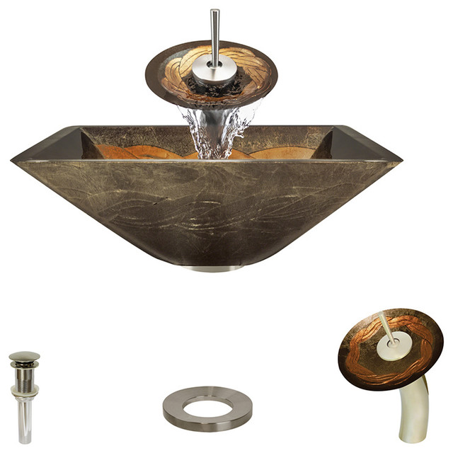 638 Vessel Sink Ensemble - Contemporary - Bathroom Sinks - by MR Direct Sinks and Faucets
