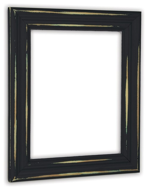 The Rusty Roof Distressed Black Picture Frame Solid Wood