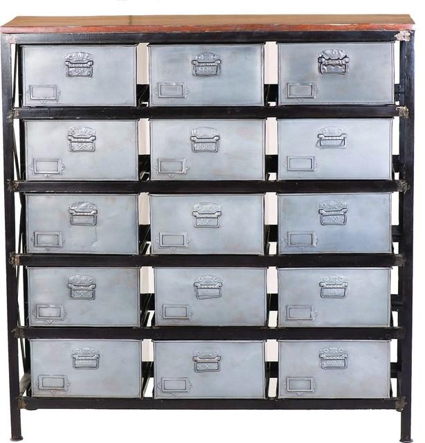 Metal And Mango Wood Cabinet Yfur Sba3093