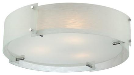 Kaelin 3-Light Flush Mounts, Chrome.