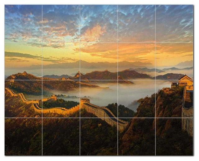 Monument Ceramic Tile Mural Kitchen Backsplash Bathroom Shower 400971 Asian Tile Murals By Picture Tiles