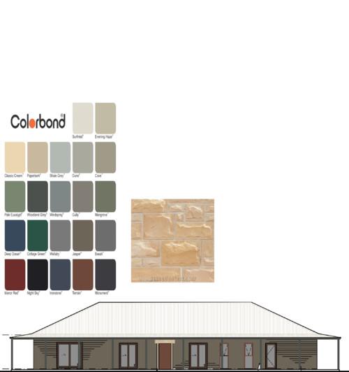 Farm House Exterior Colour Scheme Colorbond Cladding