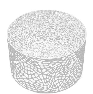 Arktura Modern Round Metal Coffee Table Brilliant White Outdoor Tables