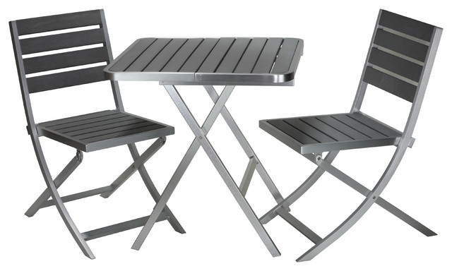 Maxwell Aluminum Outdoor Folding 3-Piece Set.