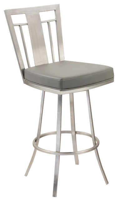 Cleo 26 Quot Modern Swivel Bar Stool Stainless Steel
