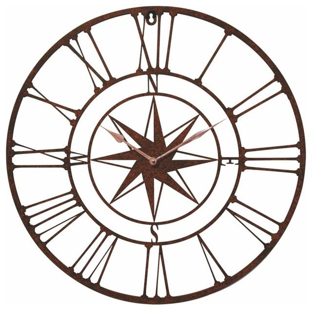 Wind Rose Compass Wall Clock
