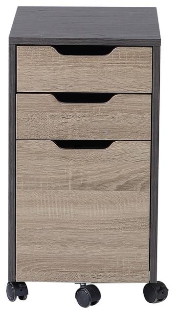 Homestar 3 Drawer Filing Cabinet, Reclaimed Wood.