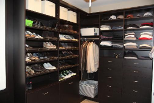 Sleek Master Closet Traditional Closet Denver By