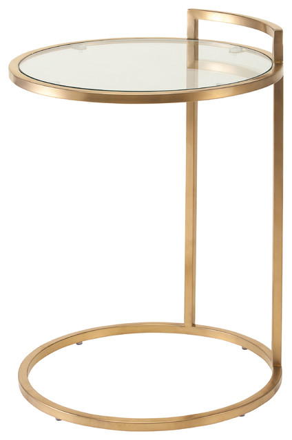 Lily Stainless Steel Side Table Contemporary Side Tables And End - Brushed gold side table