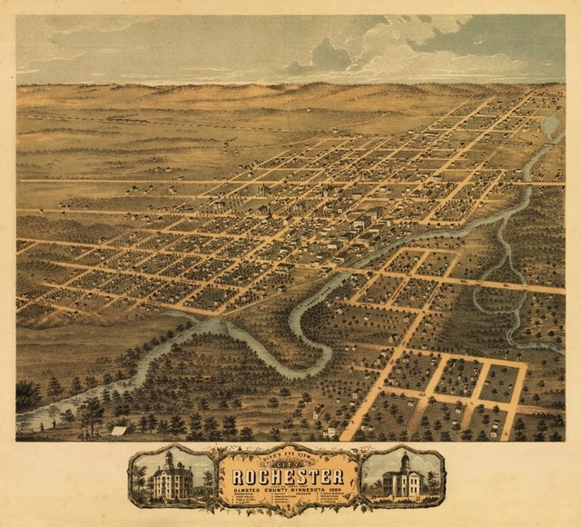 Quot Rochester Minnesota Panoramic Map Quot Print Traditional