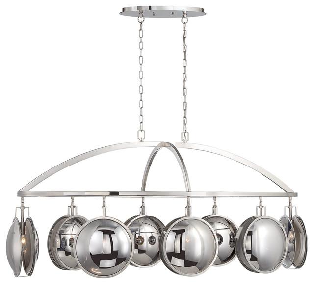 Havendale Mercury Glass 8-Light Sphere Chandelier
