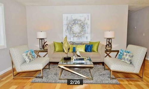 I need help deciding on livingroom furniture and decor for Dining room near front door