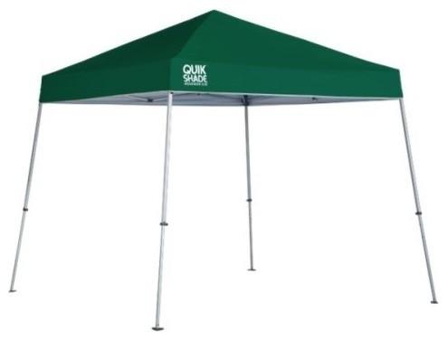 Shelter Logic 10&x27;x10&x27; Quik Shade We64 Slant Leg Canopy, Green.