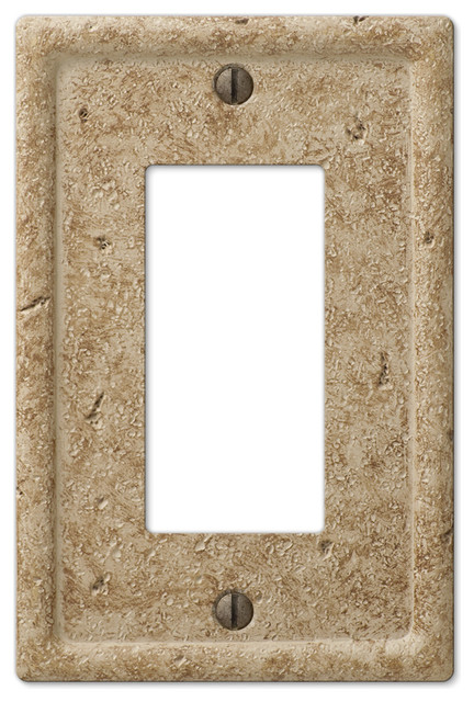 Faux Stone Resin 1 Rocker Wall Plate Traditional Switch Plates And Outlet Covers By Amertac