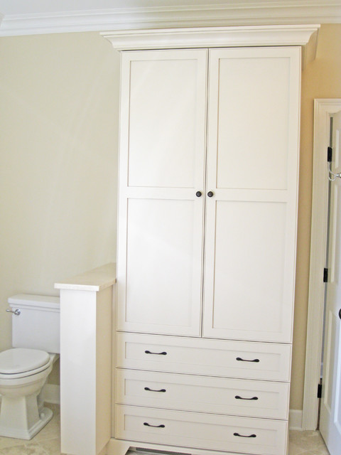 bathroom linen cabinet - traditional - charleston -sea island