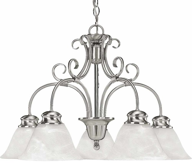 Volume Lighting Troy 5-Light Brushed Nickel Chandelier