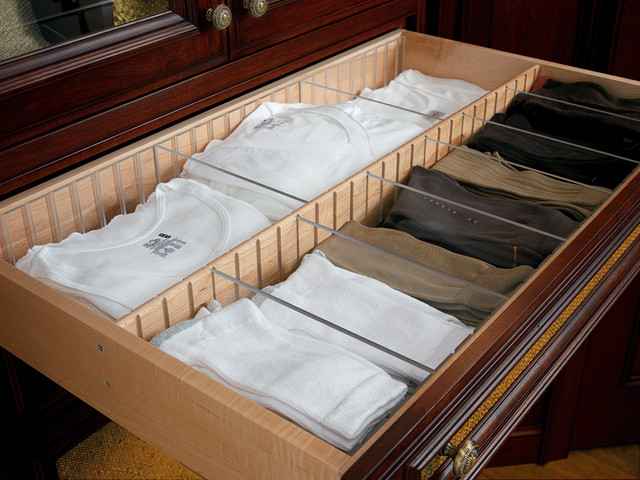 Drawer With Acrylic Dividers Traditional