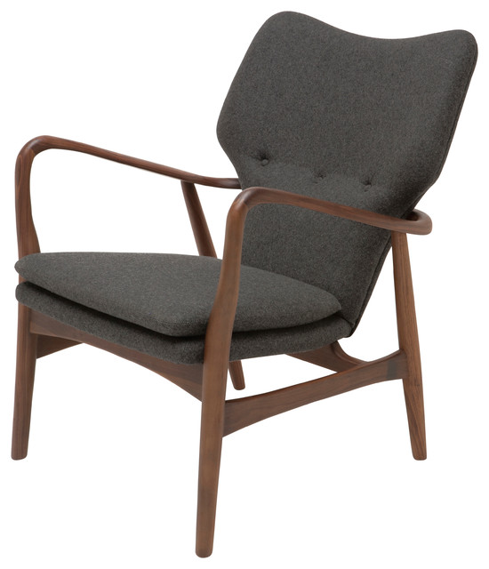 Patrik Occasional Chair, Tweed Fabric.
