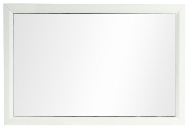 Aberdeen 48 White Framed Bathroom Wall Mirror by Eviva LLC