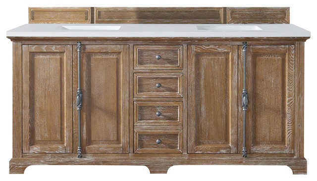 "Providence 72"" Driftwood Double Vanity With 3cm Shadow"