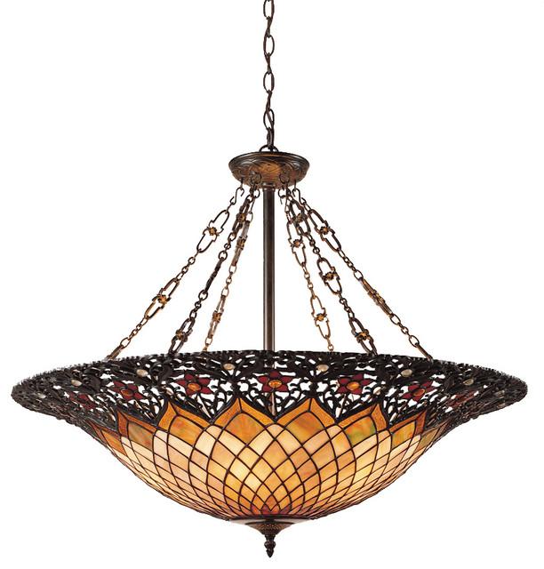 Ceiling Lighting Pendant Tiffany Adriana Vintage Bronze